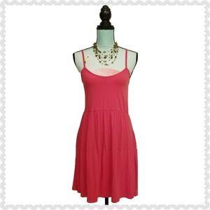 5 More Minutes Spaghetti Fit & Flare Dress Pink L